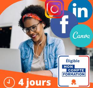Réseaux Sociaux: Facebook, Instagram, Linkedin, Web Design (Débutant)