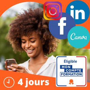 Réseaux Sociaux: Facebook, Instagram, Linkedin, Web Design (Intermédiaire)