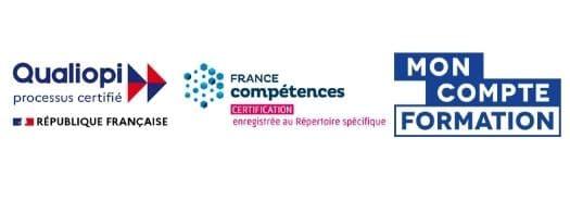 Bannière Qualiopi France Competences Mon Compte Formation